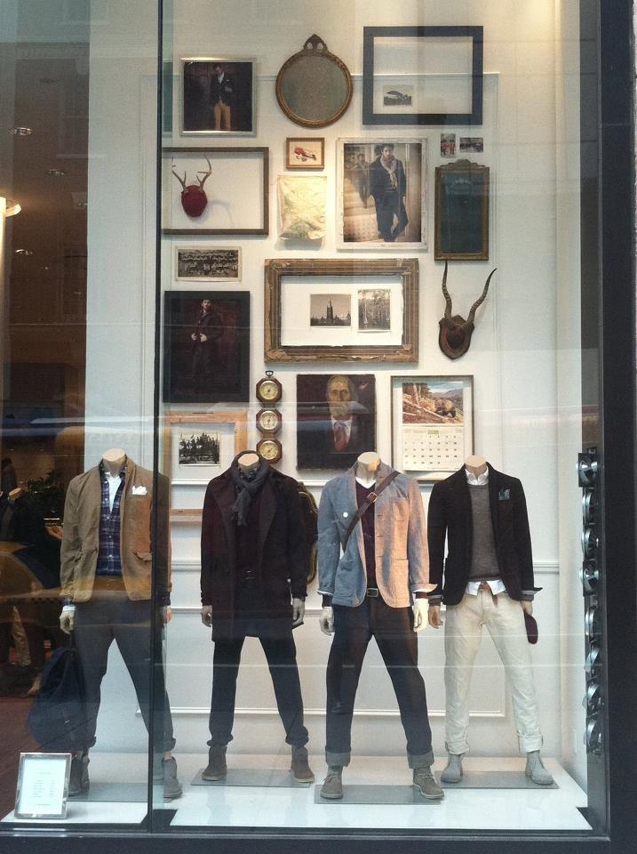 """CLUB MONACO, New York, """"Four Men In A Gallery"""", pinned by Ton van der Veer"""