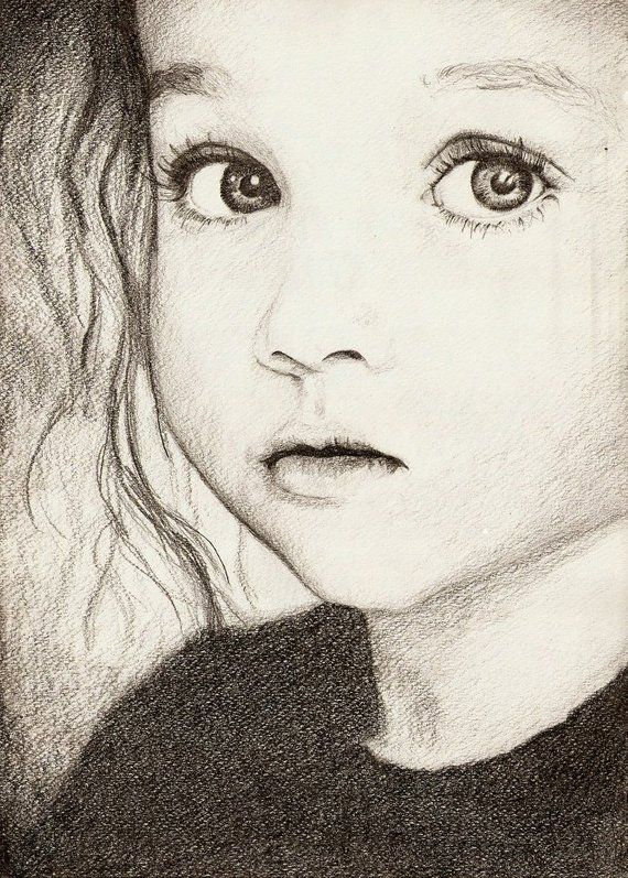 Custom portrait, pencil drawing, black and white portrait