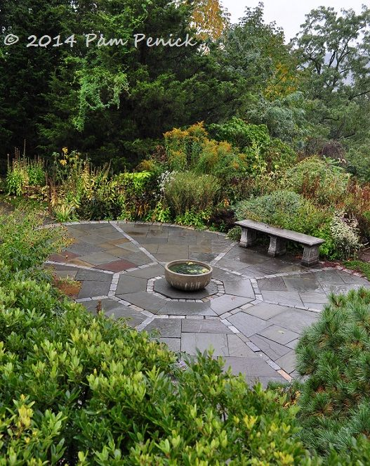 Elliptical Patio. Visit To Wave Hill, A Hudson River Estate Garden In New  York
