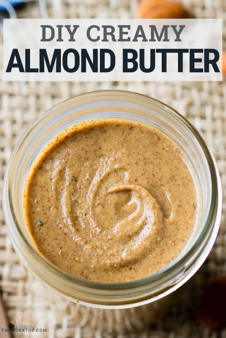 DIY Almond Butter - One Ingredient Only