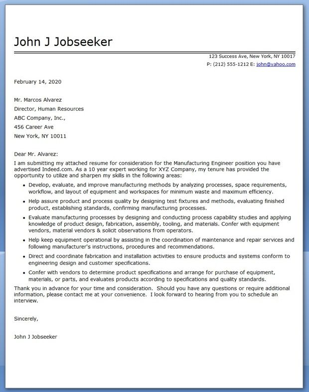 cover letter for industrial engineering internship If you're an industrial engineer, learn how to manufacture a strong resume using our sample resume below as a foundation, and download the sample resume for an industrial engineer in word and if you need more help, get a free resume evaluation today from the experts at monster's partner topresume additionally, you.