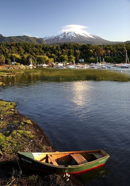 Pucón - Chile. I climbed Villarica Volcano and then met my dentist halfway. Small world.