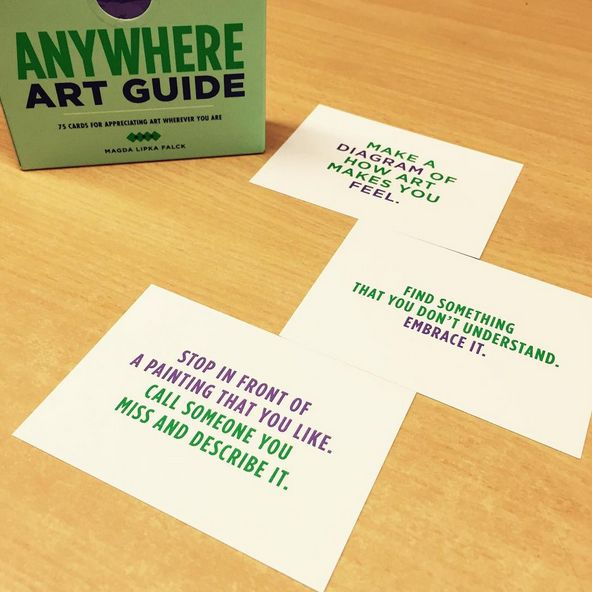 This is the perfect gift for any art lover // Find even more ways to appreciate and enjoy art with this set of 75 cards Anywhere Art Guide // An imaginative and creative way to see art in everything