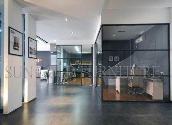 Modern Decorative Black Living Room Glass Partition Design Wall (SZ-WS631)