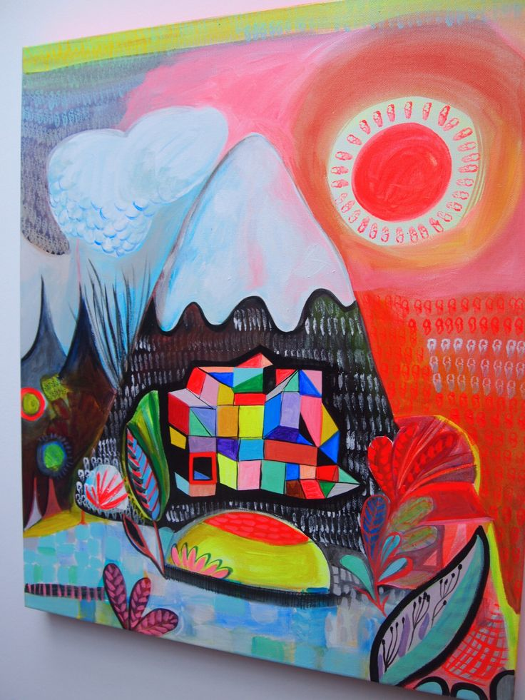 Original painting acrylic on canvas Rainbow mountain by JessQuinnSmallArt on Etsy https://www.etsy.com/listing/214935975/original-painting-acrylic-on-canvas