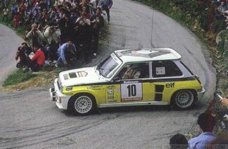 ra jean ragnotti pierre thimonier 28 tour de corse 1984 renault 5 turbo tdc clasificado 3. Black Bedroom Furniture Sets. Home Design Ideas