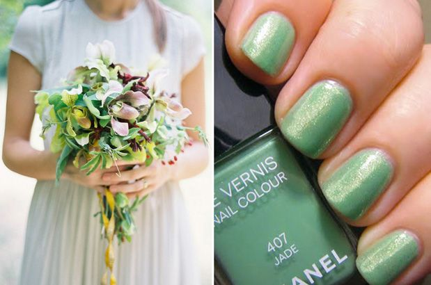 wedding nails with glitter - Google Search