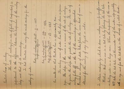 You won't find this anywhere else on the Web - pages from my Grandfather's notebook (1932).  He used this notebook during his technical school training in Motherwell, Scotland; this one was Physics.  It includes handwritten pages, diagrams and notes.