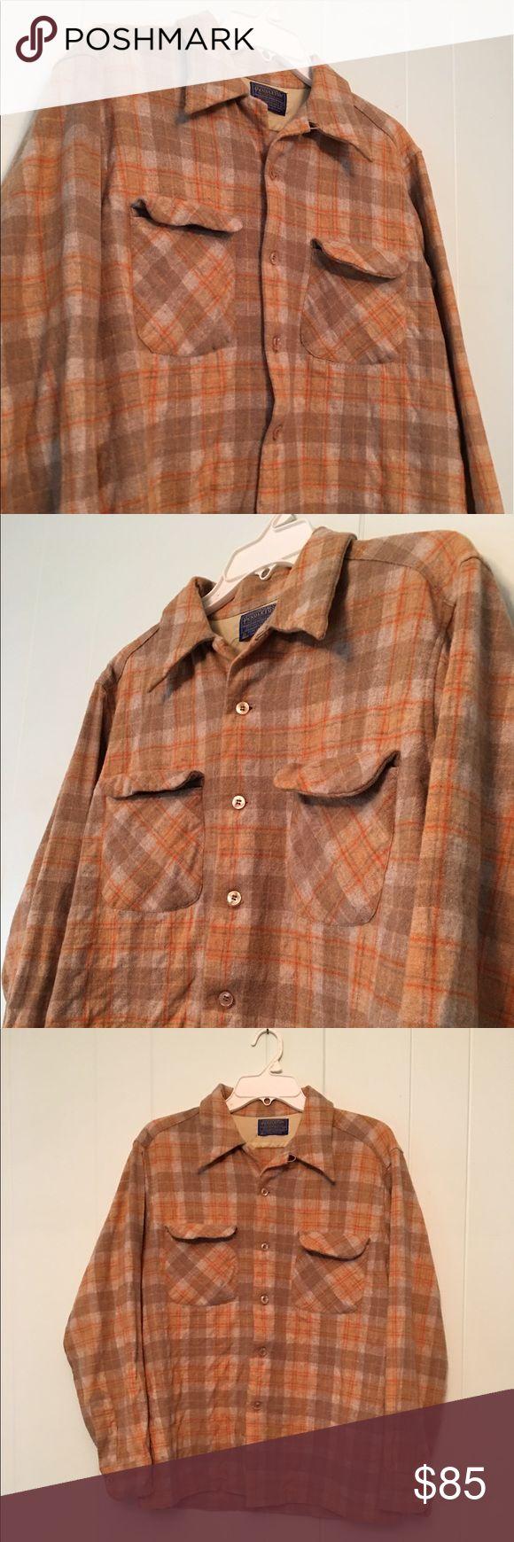 Pendleton Button Down Wool Shirt Vintage Pendleton Button Down Shirt, 100% Virgin Wool, Great Condition. Pendleton Shirts Casual Button Down Shirts