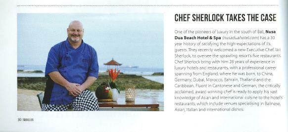 Asian Dreams magazine Bali Chef Sherlock takes the case!!!