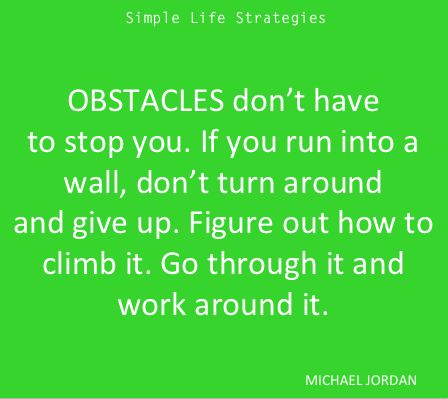 possible obstacles in achieving goals