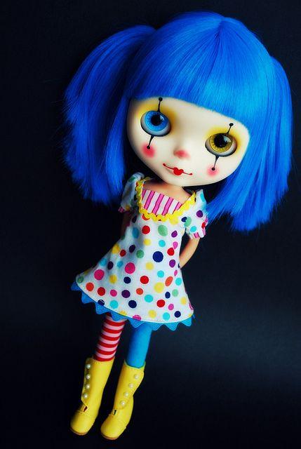 Clown Blythe - Sparkles Snicklefritz by kylie2good, via Flickr