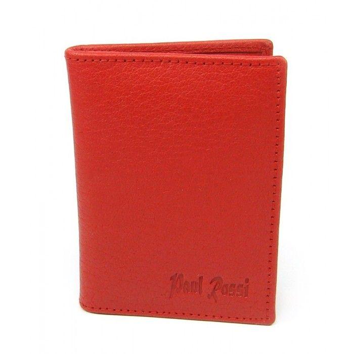 Kožené pouzdro na karty oranžové - peněženky AHAL