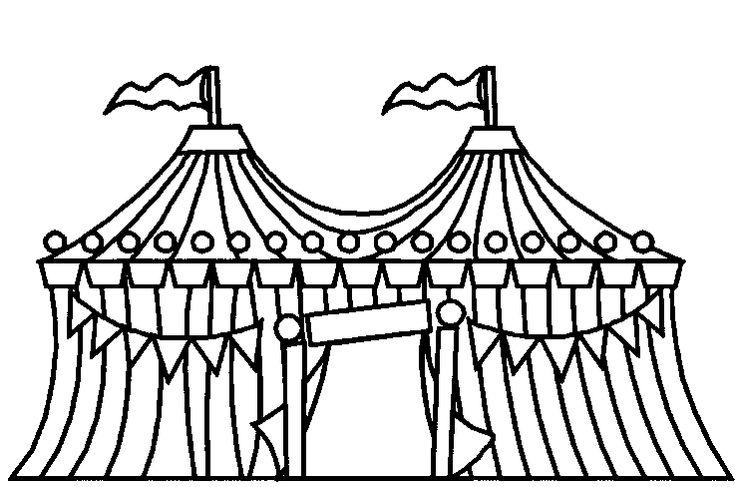 Картинки раскраски здания цирк