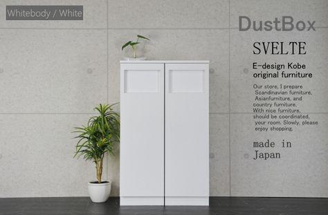 ゴミ箱 おしゃれ スリムゴミ箱 45Lゴミ箱 分別ゴミ箱 キッチンゴミ箱 ダストボックス ホワイト/ホワイト