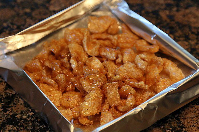 caramel pork rinds