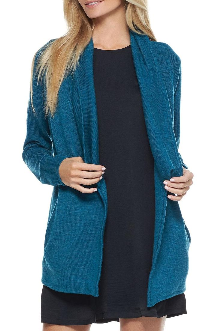 Teal green wool sweater coat is the perfect light weight coat for fall, can be worn over dresses for a dressier look or with denim for a more casual look.   Teal Sweater Coat by Tart Clothing. Clothing - Sweaters - Cardigans Montana