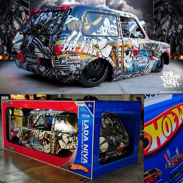 Our Badass Life Size Lada Niva Hot Wheels Car In Its Cool