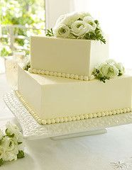 square wedding cake with beads, fresh flowers...Flowers of Charlotte loves this!  Find us at www.charlotteweddingflorist.com