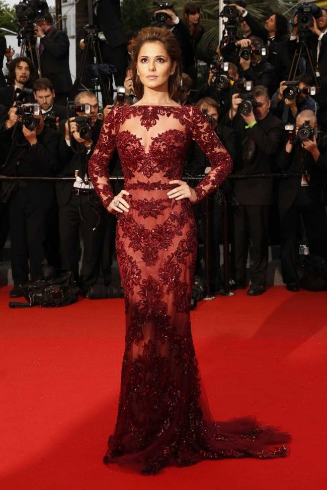 Cheryl Cole wearing a gown by Zuhair Murad at The 66th Cannes Film Festival 2013 Red Carpet,