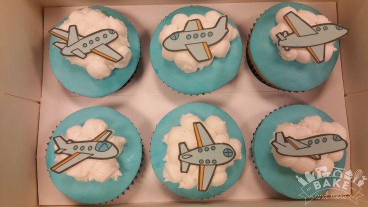 Vliegtuig cupcakes, cupcakes with  plane