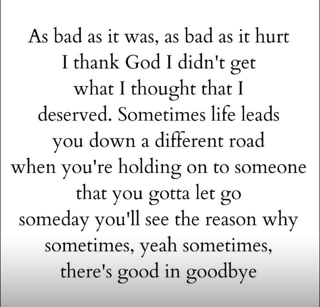 there is good in goodbye