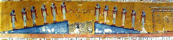 Tercera división, segundo registro, las doce diosas Tumba de Ramsés IV (KV 2) Fotografía de Francisco López