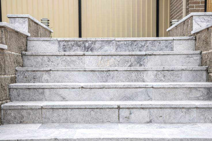 Check out these stunning stairs built entirely using very popular silver travertine pavers. Visit our website to learn the various characteristics of each stone and receive individual assistance in choosing just the right product to beautify your home and garden. http://ow.ly/Umeby