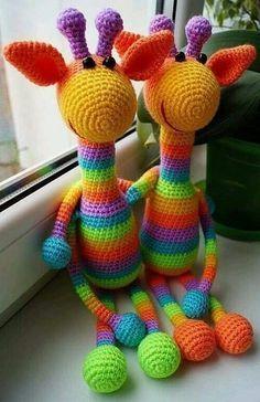 animales tejidos a crochet paso a paso jirafa
