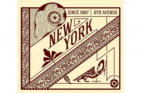 Old advertisement design by OneVectorStock on @creativemarket