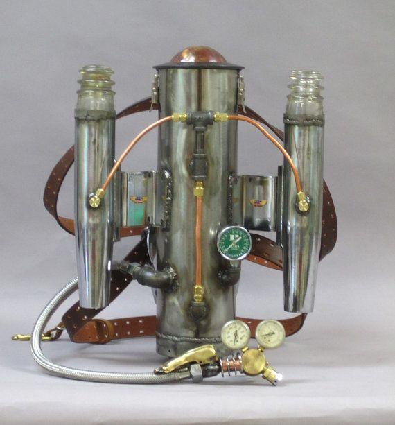 Steampunk rocket backpack