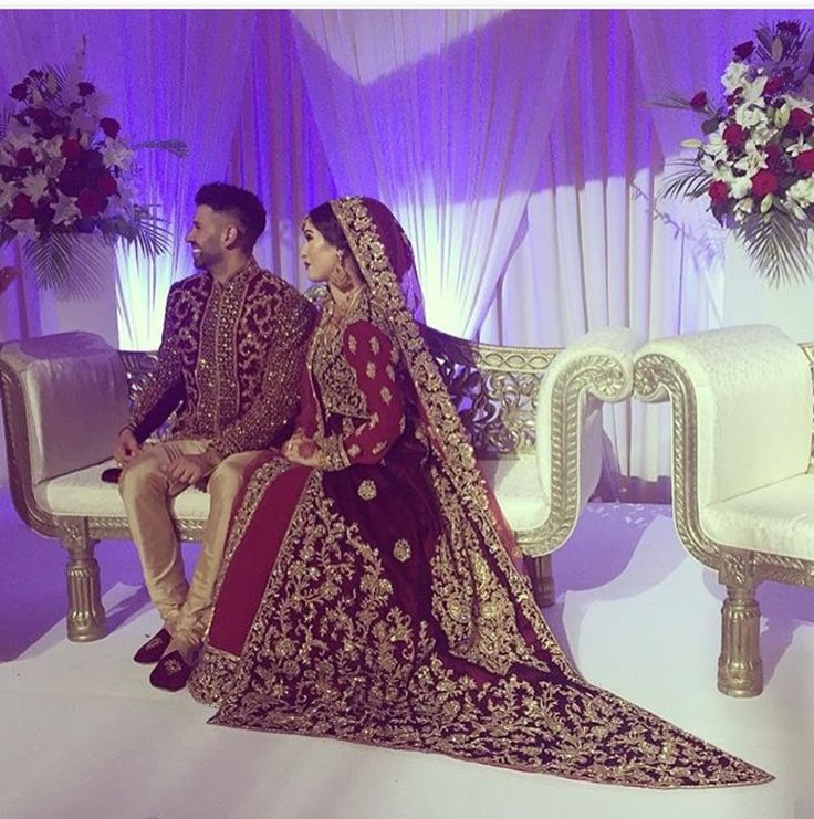 Pakistani Bride And Groom ♡ ❤ ♡ Pakistani Wedding Dress, Pakistani Style Follow me here MrZeshan Sadiq