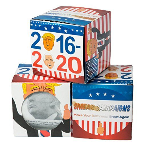 Donald Trump Toilet Paper Roll With 4 Real Trump Quotes by Smear Campaigns With Colorful Funny Display Box - The Most Hilarious Political Gag Gift (1 Roll)