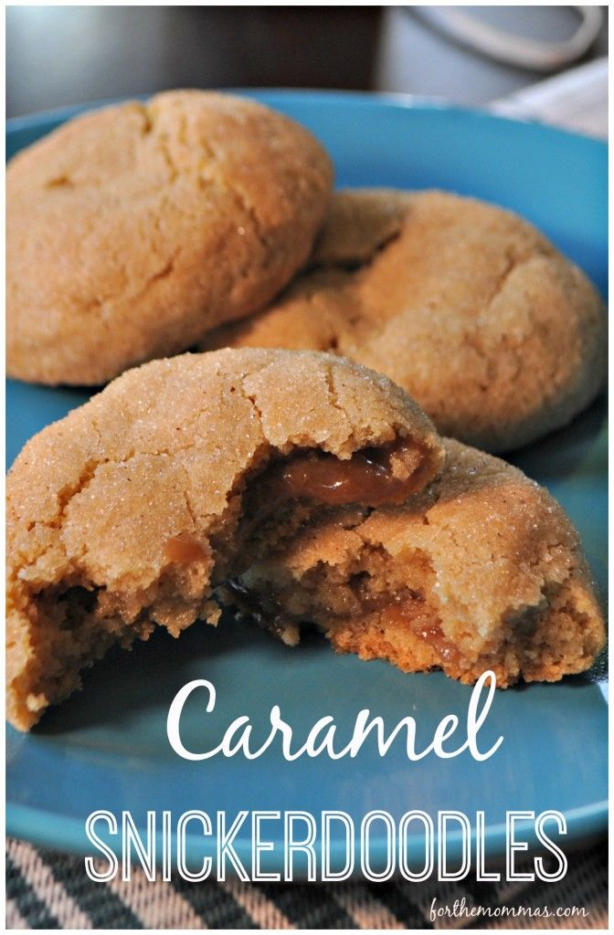 Caramel Snicker Doodles Recipe - These cookies are a little work, but they are worth every minute!! The cinnamon sugar cookie blends perfectly with the gooey vanilla caramel. If you don't have time to make caramels, just cut store bought caramels in half and roll them into balls. They taste awesome with a steamy cup of chai or coffee!