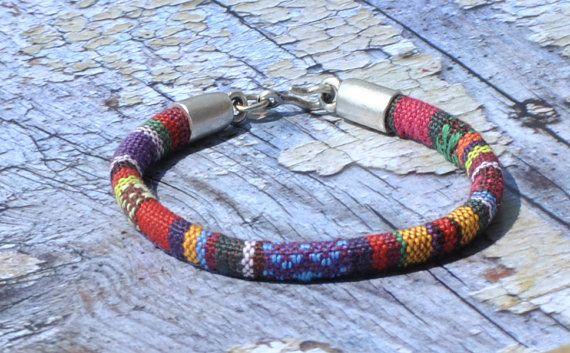 Ethnic Bracelet Tribal Bracelet Cotton Cord by bijuteriicusuflet