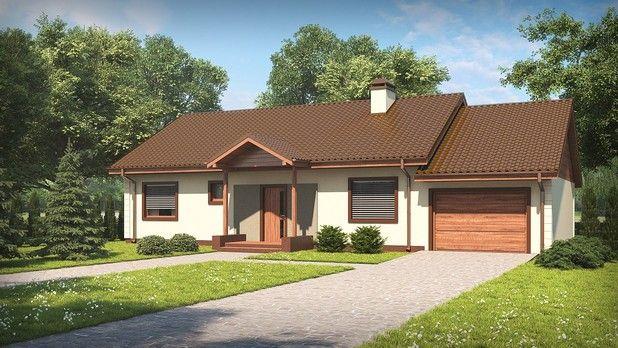 Projekt TKG-176: Zobacz wnętrze i rzuty projektu tego parterowego domu;-)