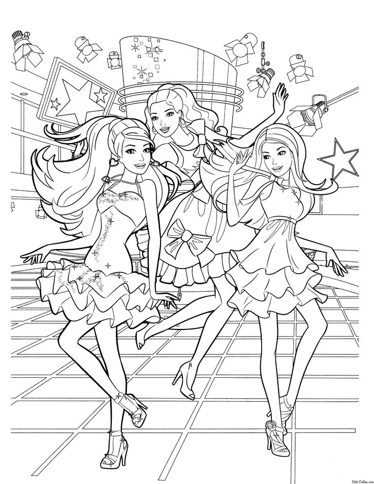 68 best coloring pages images on pinterest coloring for Barbie and the diamond castle coloring pages