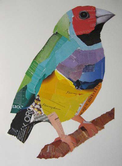 Artist Emma Gale - Tweedle Dum, mixed media on paper