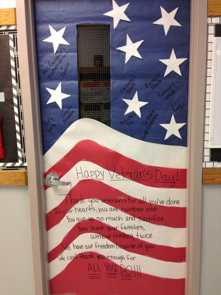 Veterans Day Classroom Door Decoration Ideas : Best door designs images on pinterest school