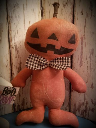 Primitive Halloween Doll Set ~Ghost~ Pumpkin~ Black Cat~ The Boo Crew~