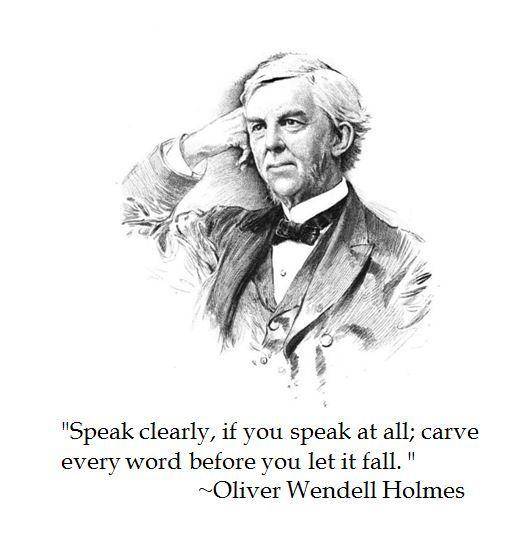 Oliver Wendell Holmes on Communication