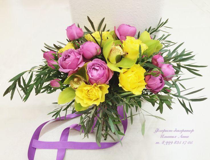 Жёлтые розы в букете