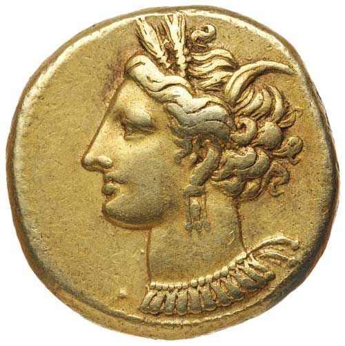 Ancient Gold Coins / ZEUGITANA, Carthage, (c.300 B.C.), electrum stater... Realisation Price $2,600.00 AUD... Click VISIT to find out more and see 10,000+ Gold Coins at MAD On Collections. Please feel free to pin or share this coin.
