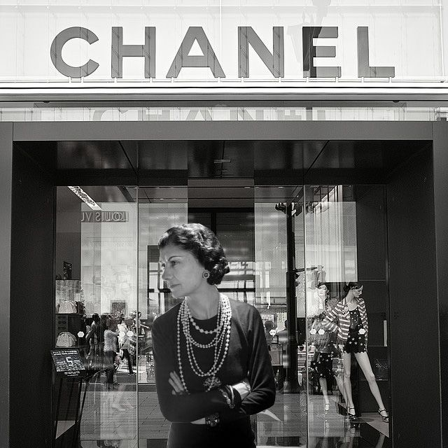 Coco.....outside her first & original location in Paris.....