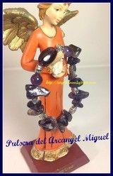 Angel bracelet. Pulsera del arcangel Miguel-Arcangel Miguel-Angel Miguel-Pulsera en amatista-pulsera en cristal de cuarzo-amuleto del arcangel-amuleto del angel-pulseras de los arcangeles-figuras de angeles