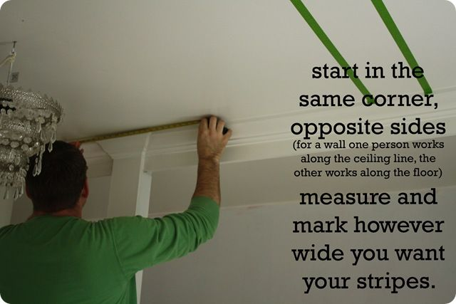 how to paint  striped ceiling