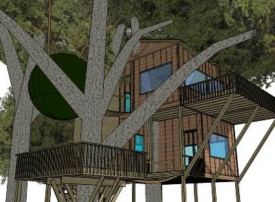 Ultimate tree house by DA MAN - Sketchup