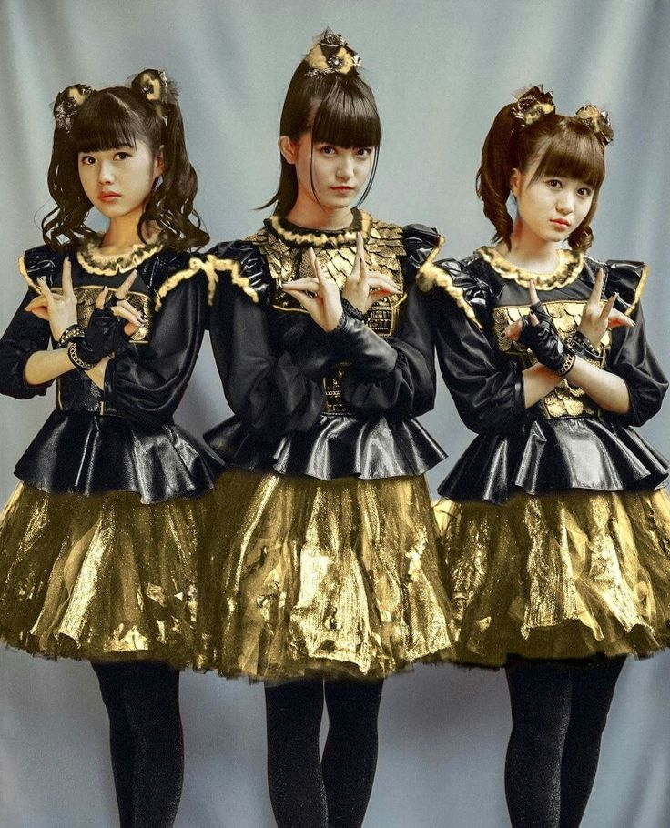 Baby Metal in Black&Gold for Tokyo Dome- Red Night Show 9/19/16