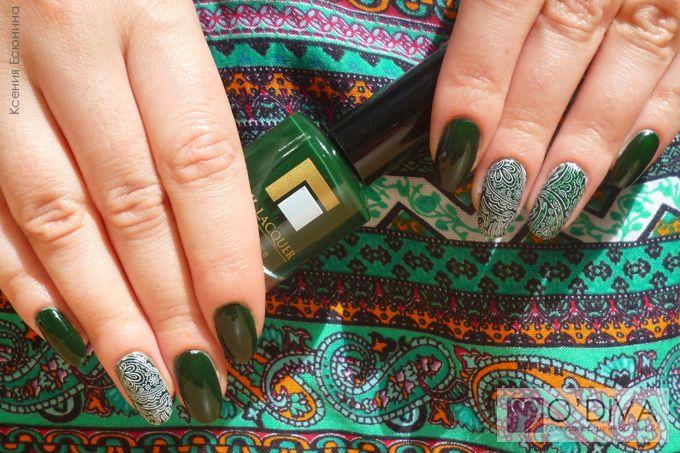 """Индийские """"огурцы"""" cо слайдер-дизайном и лаком для ногтей Milv. Посмотреть мастер-класс: http://odiva.ru/news/interesting/indian_cucumbers_c_milv_ksenia_esenina/   #одива #odiva #идеиманикюра #ногти #маникюр #manicure #naildesign #nailart #fashion #nail #nails #milv #слайдердизайн #лакдляногтей #лакдляногтейmilv #лакдляногтеймилв #милв"""