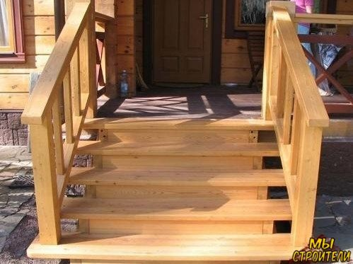Лестница для террасы – красота своими руками.